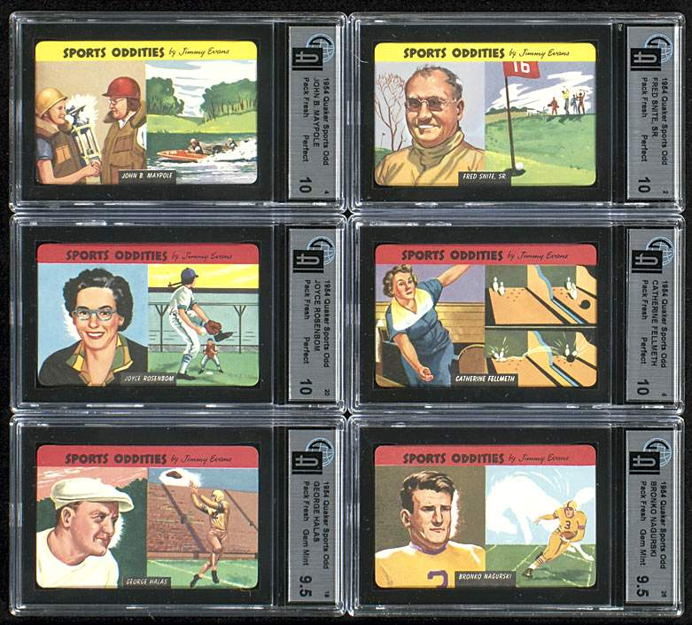 1954 Quaker Oats Sports Oddities #.3 George Quam Non-Sport cards value