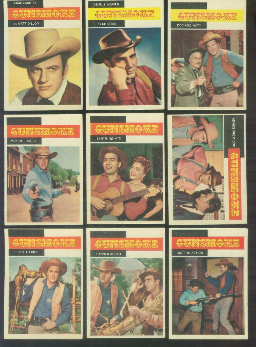 1958 Topps TV Westerns # 4 GUNSMOKE 'Man of Justice' n cards value