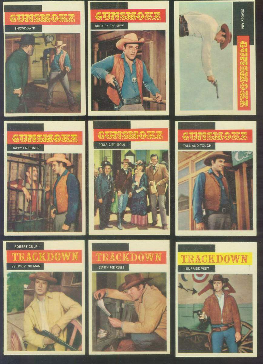 1958 Topps TV Westerns #15 GUNSMOKE 'Tall and Tough' n cards value