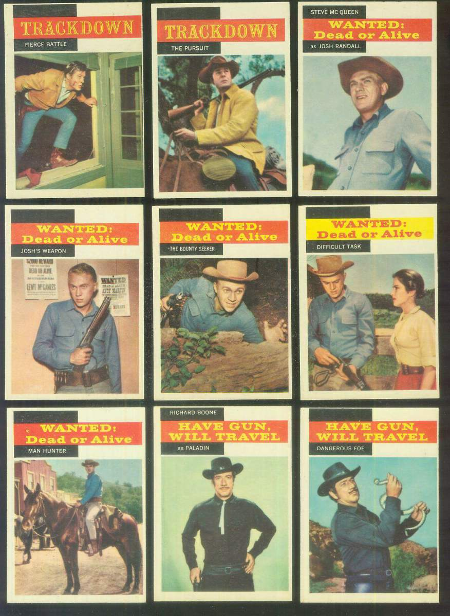 1958 Topps TV Westerns #19 TRACKDOWN 'Fierce Battle' Non-Sport cards value