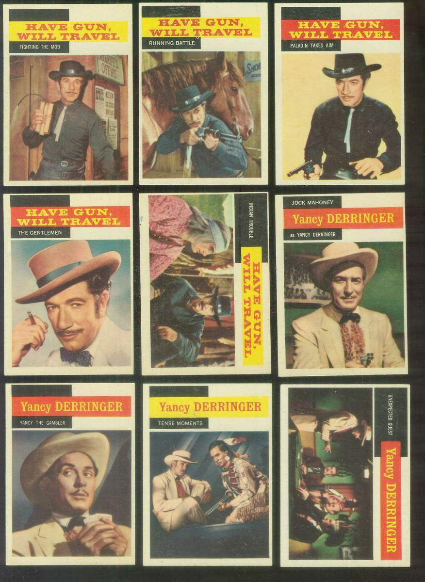 1958 Topps TV Westerns #32 HAVE GUN, WILL TRAVEL 'Indian Trouble' Non-Sport cards value