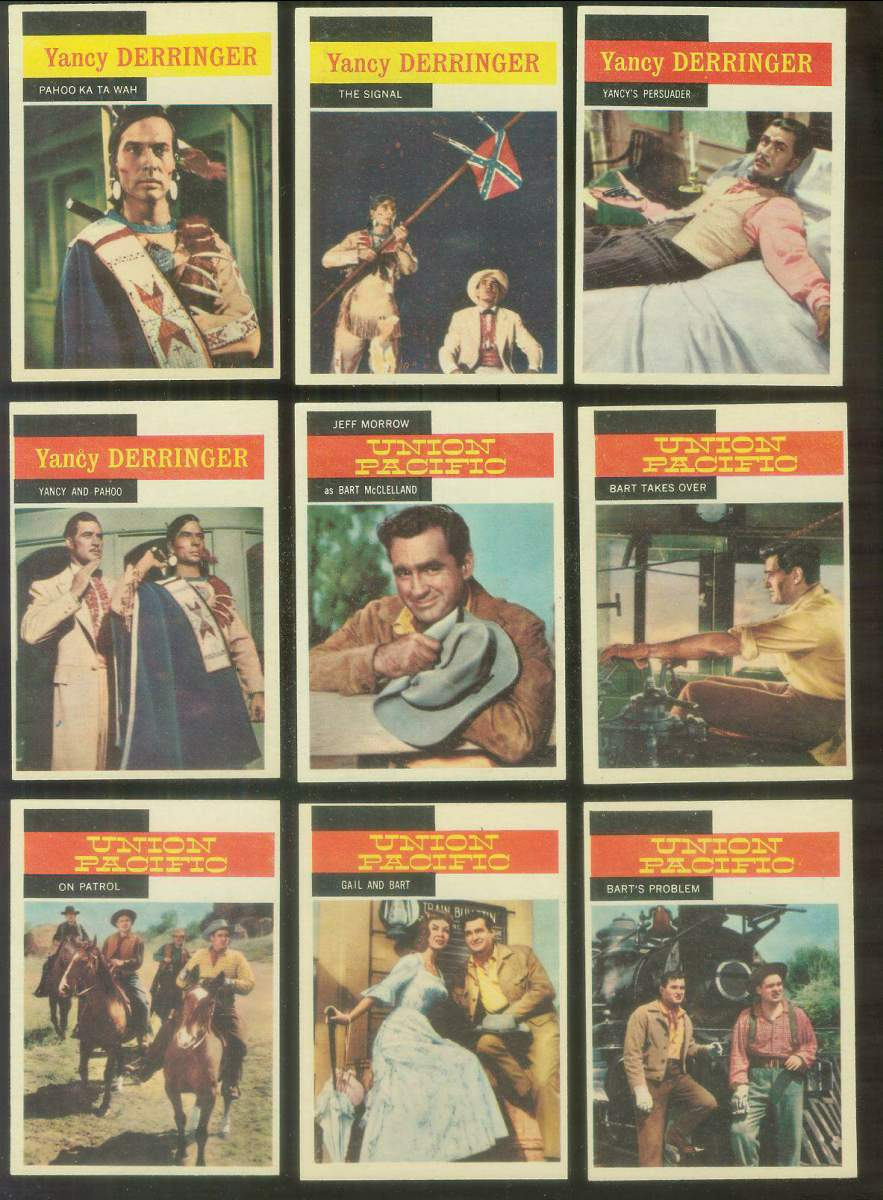 1958 Topps TV Westerns #41 UNION PACIFIC 'Jeff Morrow as Bart McClelland' Non-Sport cards value
