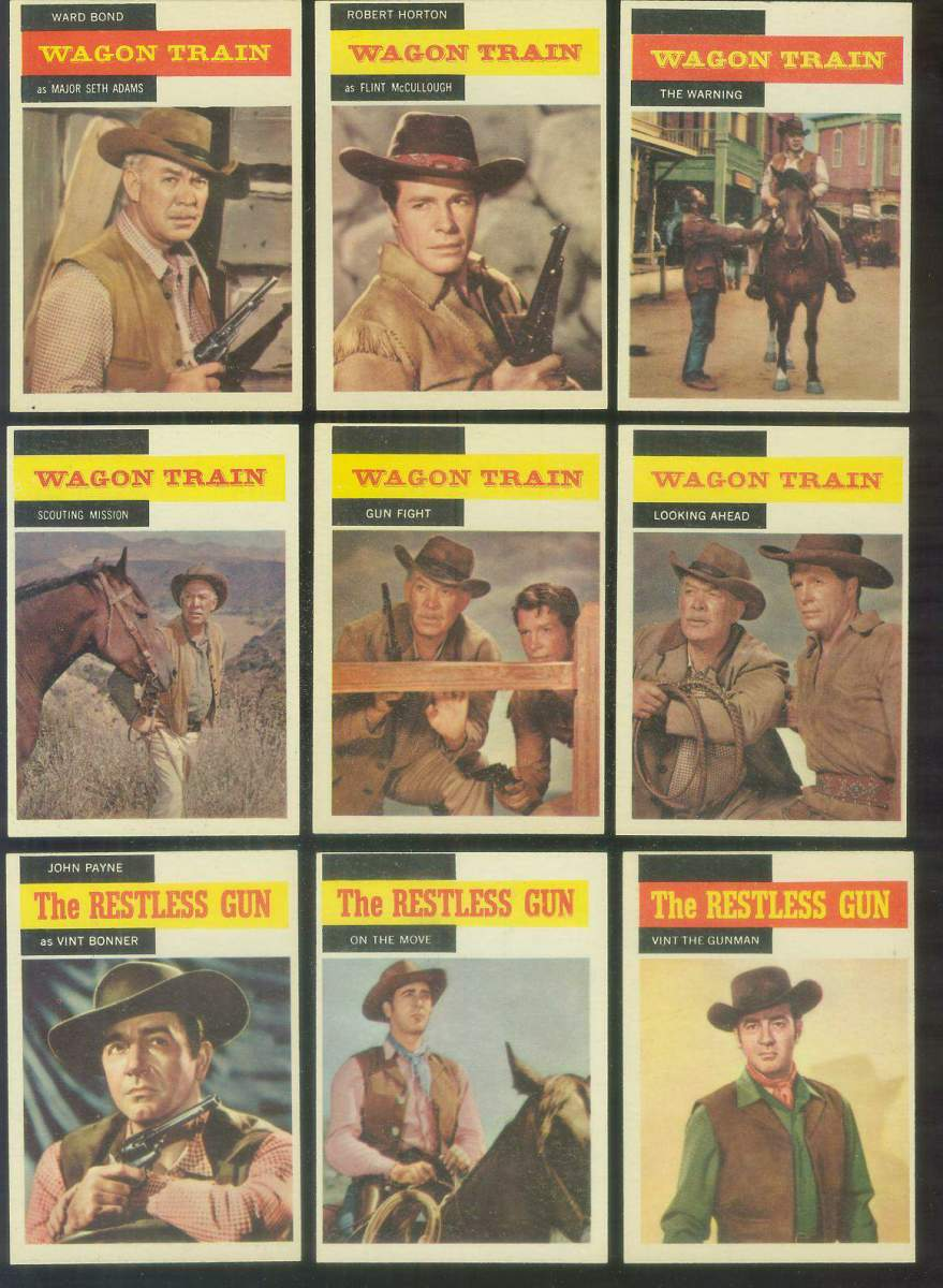 1958 Topps TV Westerns #51 WAGON TRAIN 'Looking Ahead' Non-Sport cards value