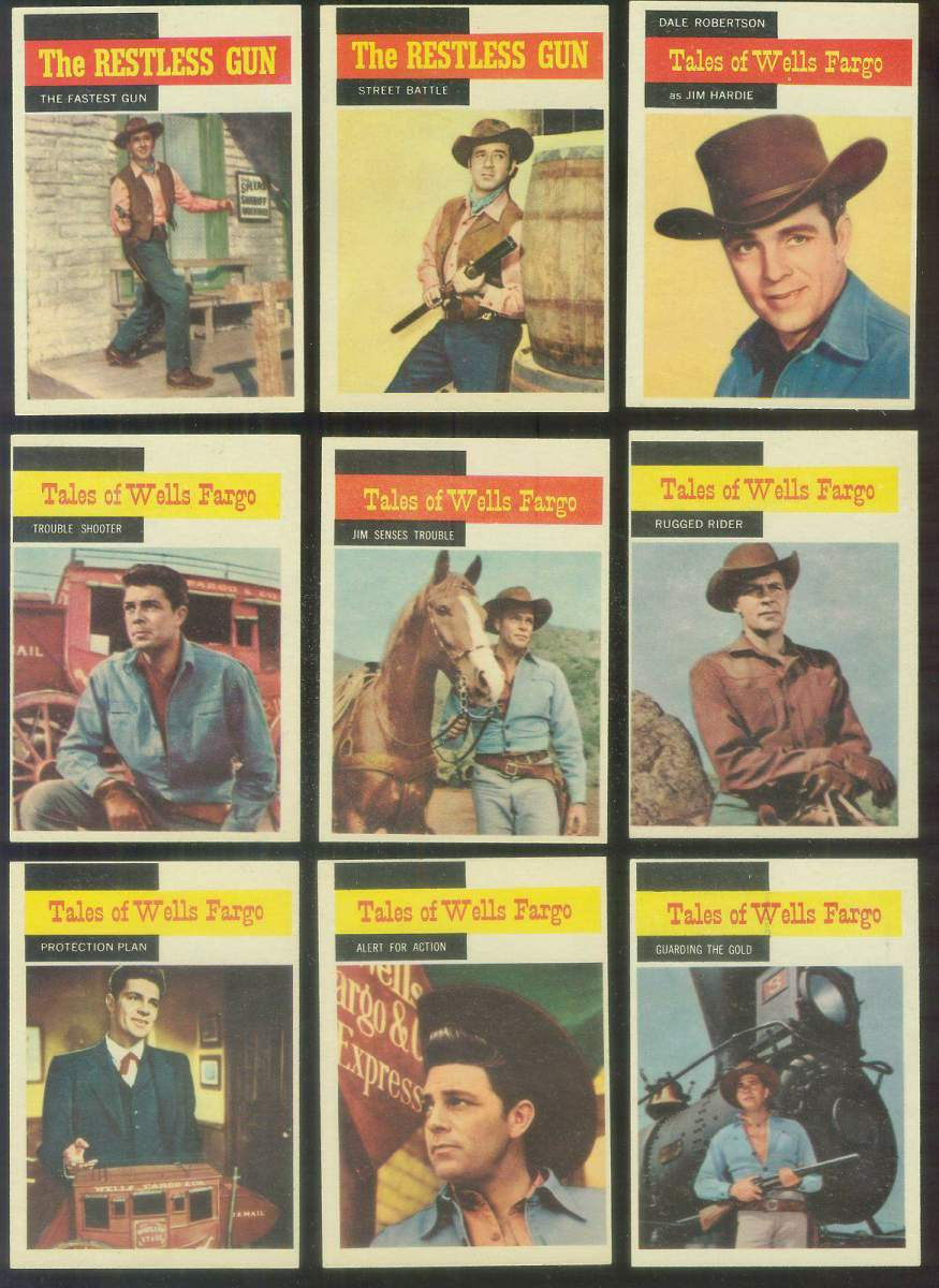 1958 Topps TV Westerns #55 RESTLESS GUN 'The Fastest Gun' Non-Sport cards value