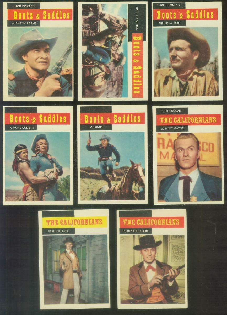 1958 Topps TV Westerns #65 BOOTS and SADDLES 'Call to Action' Non-Sport cards value