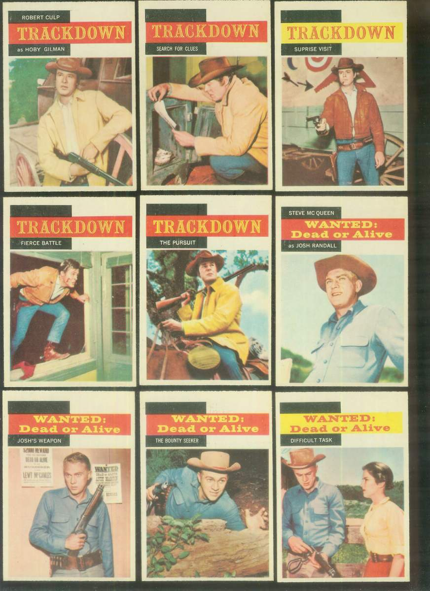 1958 A & BC Gum TV Westerns #.4 TRACKDOWN 'Fierce Battle' Non-Sport cards value