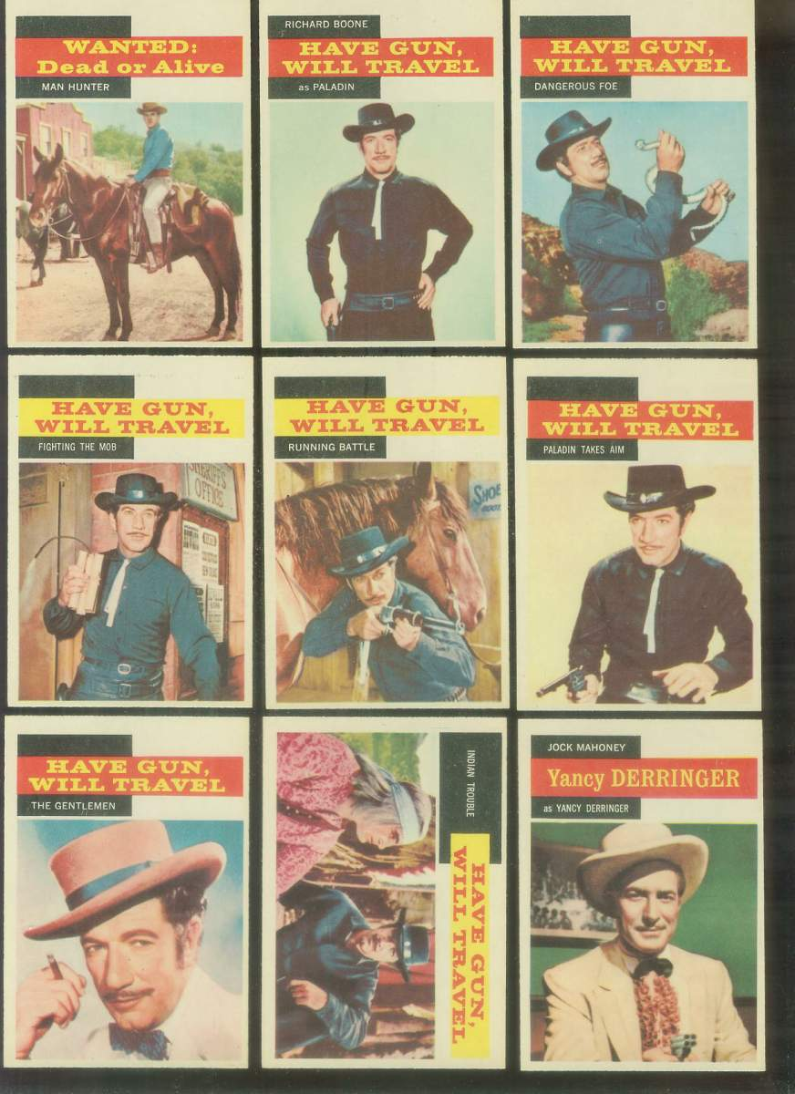 1958 A & BC Gum TV Westerns #17 HAVE GUN, WILL TRAVEL 'Indian Trouble' Non-Sport cards value