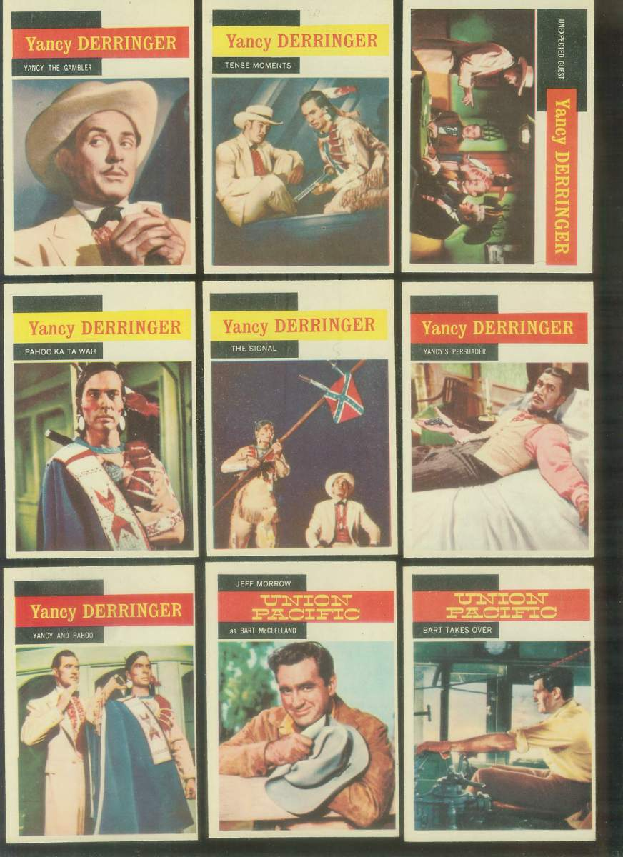 1958 A & BC Gum TV Westerns #22 YANCY DERRINGER 'Pahoo Ka Ta Wah' Non-Sport cards value
