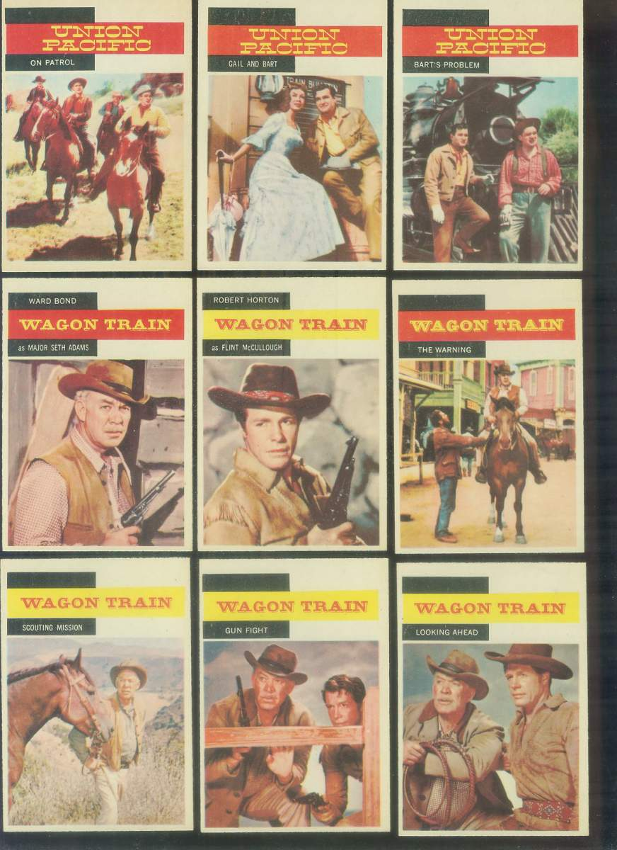 1958 A & BC Gum TV Westerns #34 WAGON TRAIN 'Scouting Mission' Non-Sport cards value