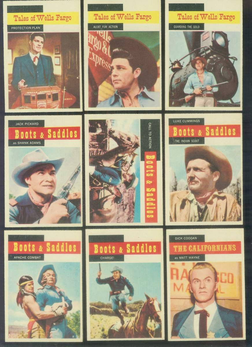 1958 A & BC Gum TV Westerns #47 WELLS FARGO 'Alert for Action' Non-Sport cards value