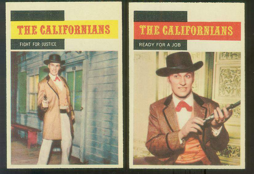 1958 A & BC Gum TV Westerns #56 THE CALIFORNIANS 'Ready for a Job' Non-Sport cards value