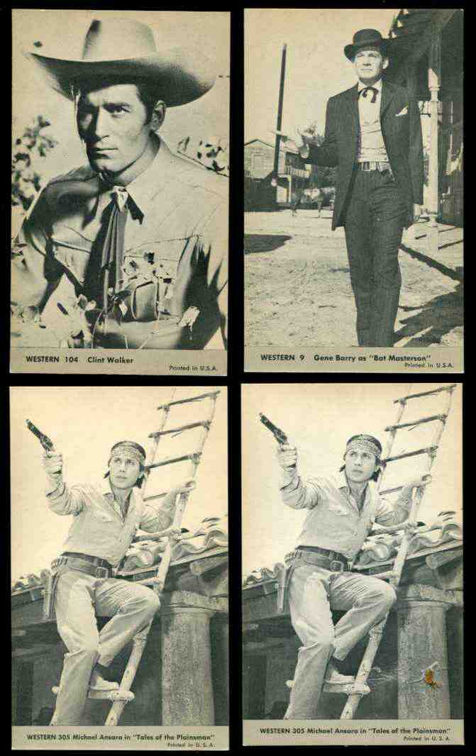 1960's WESTERN Exhibit Postcards #..9 Gene Barry as 'Bat Masterson' Non-Sport cards value