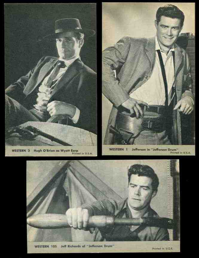1960's WESTERN Exhibit Postcards #..1 Jefferson in 'Jefferson Drum' Non-Sport cards value