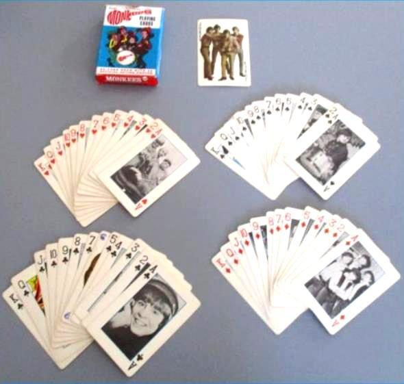 1966 Raybert MONKEES - PLAYING CARDS (54) in ORIGINAL BOX !!! n cards value