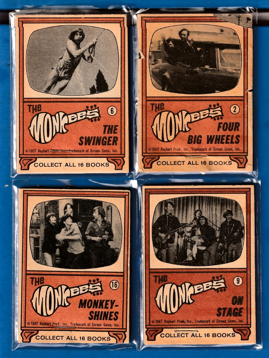 1967 Raybert MONKEES Flip Book # 9 On Stage n cards value
