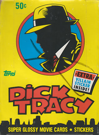 1990 Topps DICK TRACY - Wax Box (36 packs) Non-Sports cards value