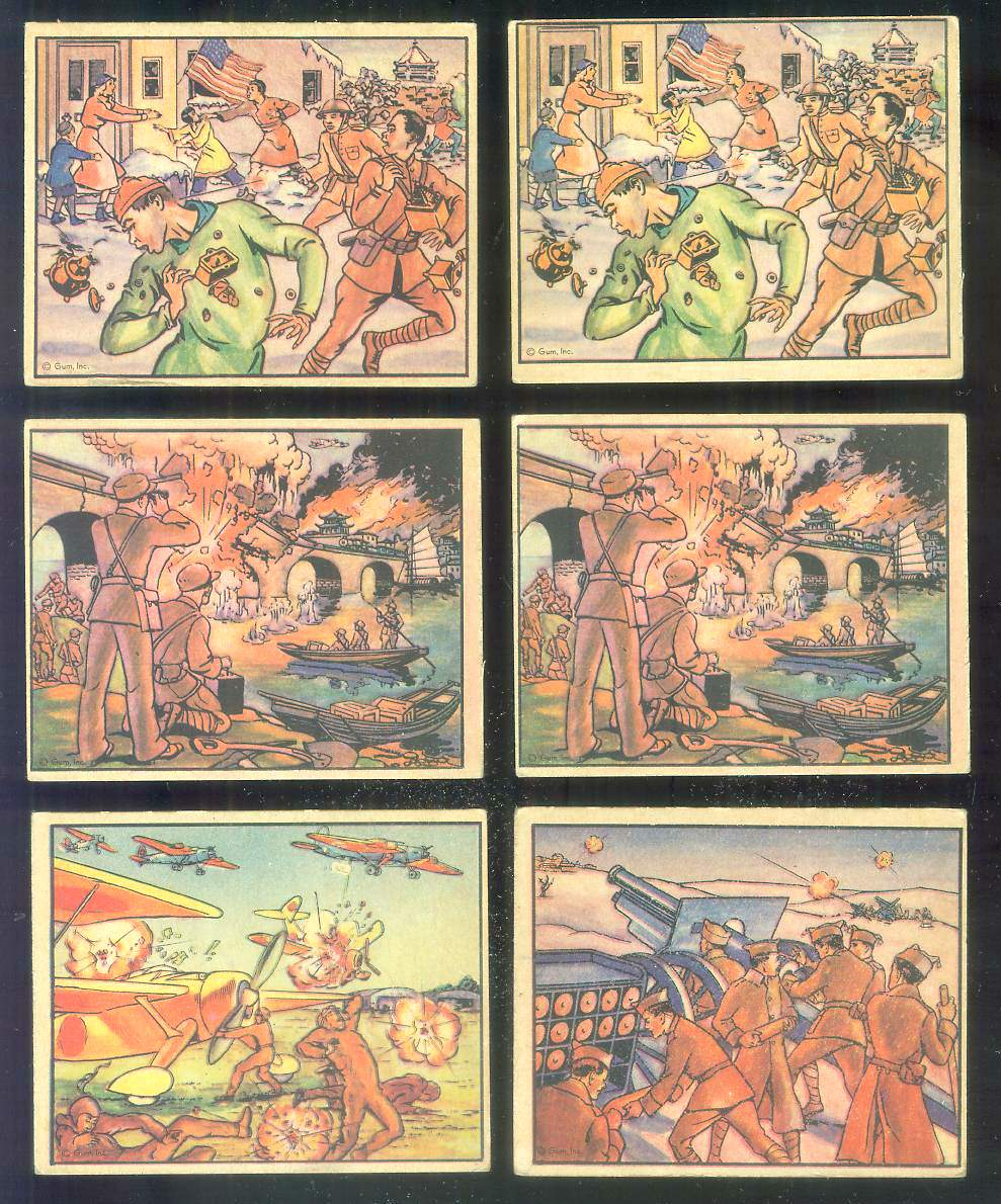 1938 Horrors of War #.69 Gun Shells Daring War Reporters in Spain Non-Sport cards value