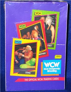 1991 WCW World Championship Wrestling - Sealed Wax Box (36 packs) Non-Sports cards value
