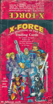 1991 Marvel X-FORCE - Sealed Wax Box (48 packs) Non-Sports cards value