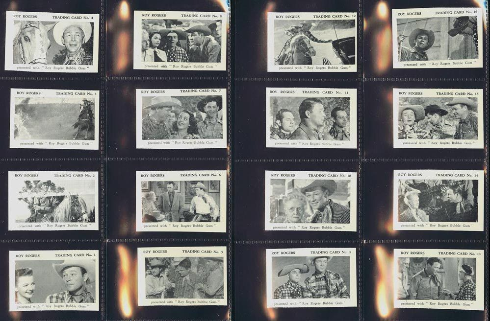 1955 Roy Rogers 'In Old Amarillo' - The Times - COMPLETE SET (24 cards) n cards value