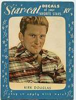 1952 Star Cal Decal - Kirk Douglas [#b] Non-Sport cards value