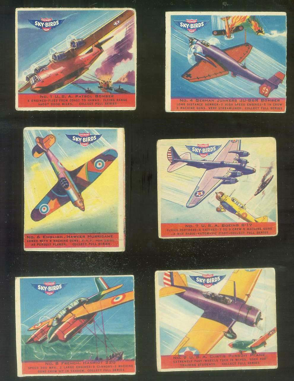 1941 Sky Birds #.8 FRENCH HANRIOT 220 Non-Sport cards value