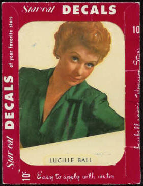 1952 Star Cal Decal - Lucille Ball ('I Love Lucy') Non-Sport cards value