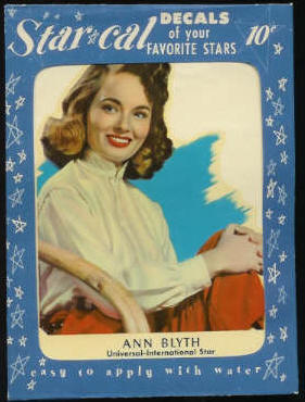 1952 Star Cal Decal - Ann Blyth (EX/MINT) Non-Sport cards value