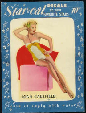 1952 Star Cal Decal - Joan Caulfield Non-Sport cards value