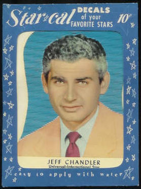 1952 Star Cal Decal - Jeff Chandler Non-Sport cards value