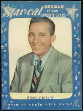 1952 Star Cal Decal - Bing Crosby Non-Sport cards value