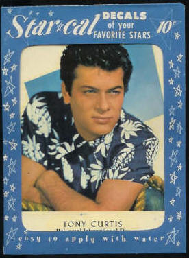 1952 Star Cal Decal - Tony Curtis Non-Sport cards value