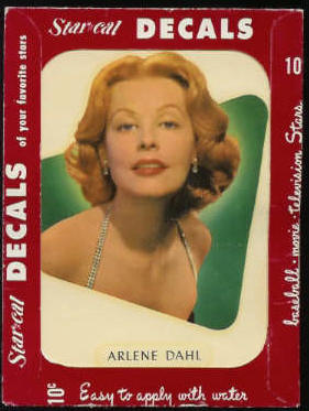 1952 Star Cal Decal - Arlene Dahl Non-Sport cards value
