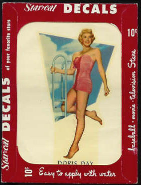 1952 Star Cal Decal - Doris Day Non-Sport cards value