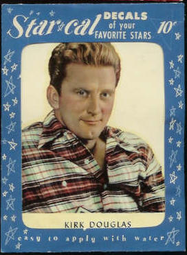 1952 Star Cal Decal - Kirk Douglas [#a] Non-Sport cards value
