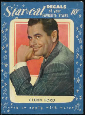 1952 Star Cal Decal - Glenn Ford Non-Sport cards value