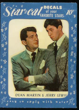 1952 Star Cal Decal - Dean Martin & Jerry Lewis (Blue Wrapper) Non-Sport cards value