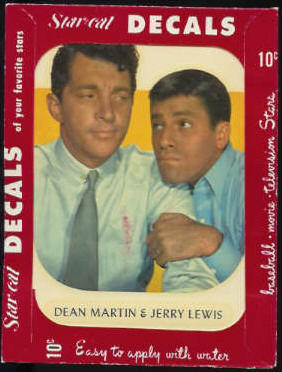 1952 Star Cal Decal - Dean Martin & Jerry Lewis (Red Wrapper) Non-Sport cards value