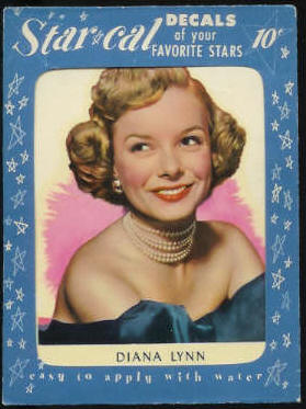 1952 Star Cal Decal - Diana Lynn Non-Sport cards value