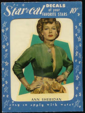 1952 Star Cal Decal - Ann Sheridan Non-Sport cards value