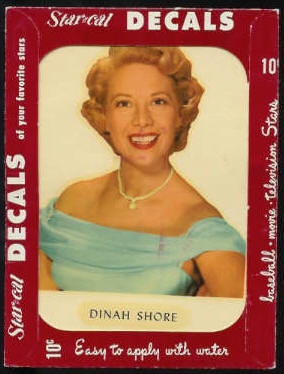1952 Star Cal Decal - Dinah Shore Non-Sport cards value