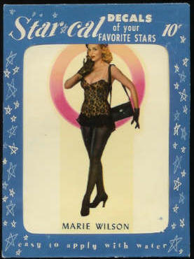1952 Star Cal Decal - Marie Wilson Non-Sport cards value