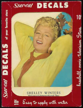 1952 Star Cal Decal - Shelly Winters Non-Sport cards value