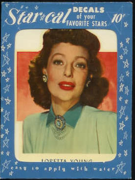 1952 Star Cal Decal - Loretta Young Non-Sport cards value