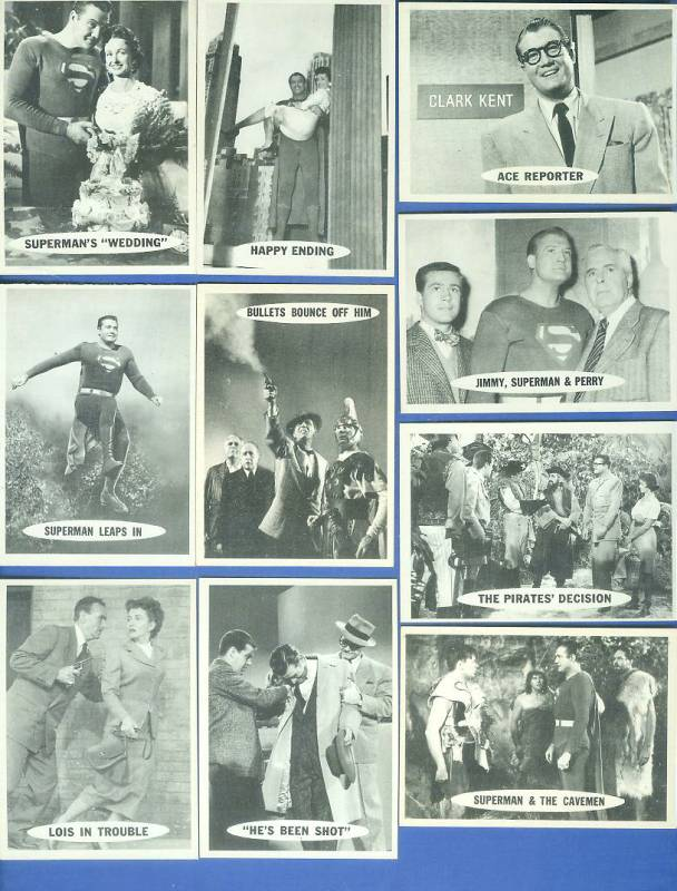 1966 Topps SUPERMAN  - Lot of (23) different Non-Sport cards value