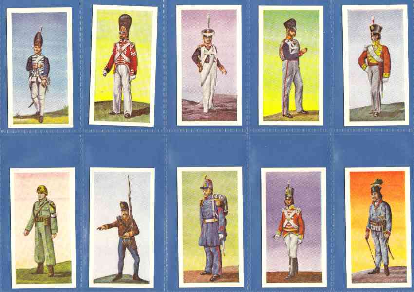 1969 WIKO 'SOLDATEN DER WELT' Complete set (Military) (50 cards,Germany) n cards value