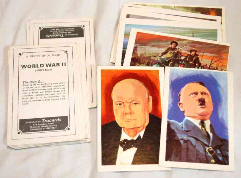 1972 World War II - COMPLETE SET (series 5,30 cards) (by Trucards) n cards value