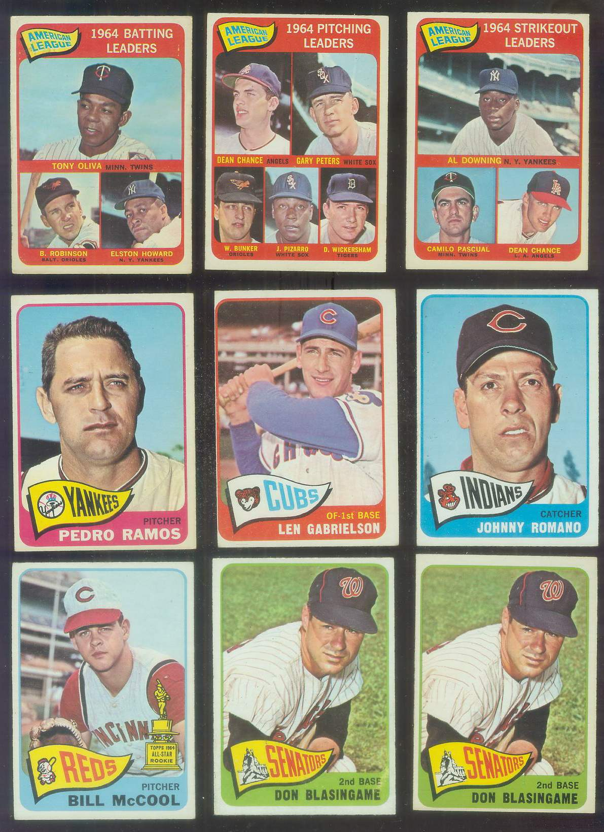 1965 O-Pee-Chee/OPC #.21 Don Blasingame (Senators) Baseball cards value