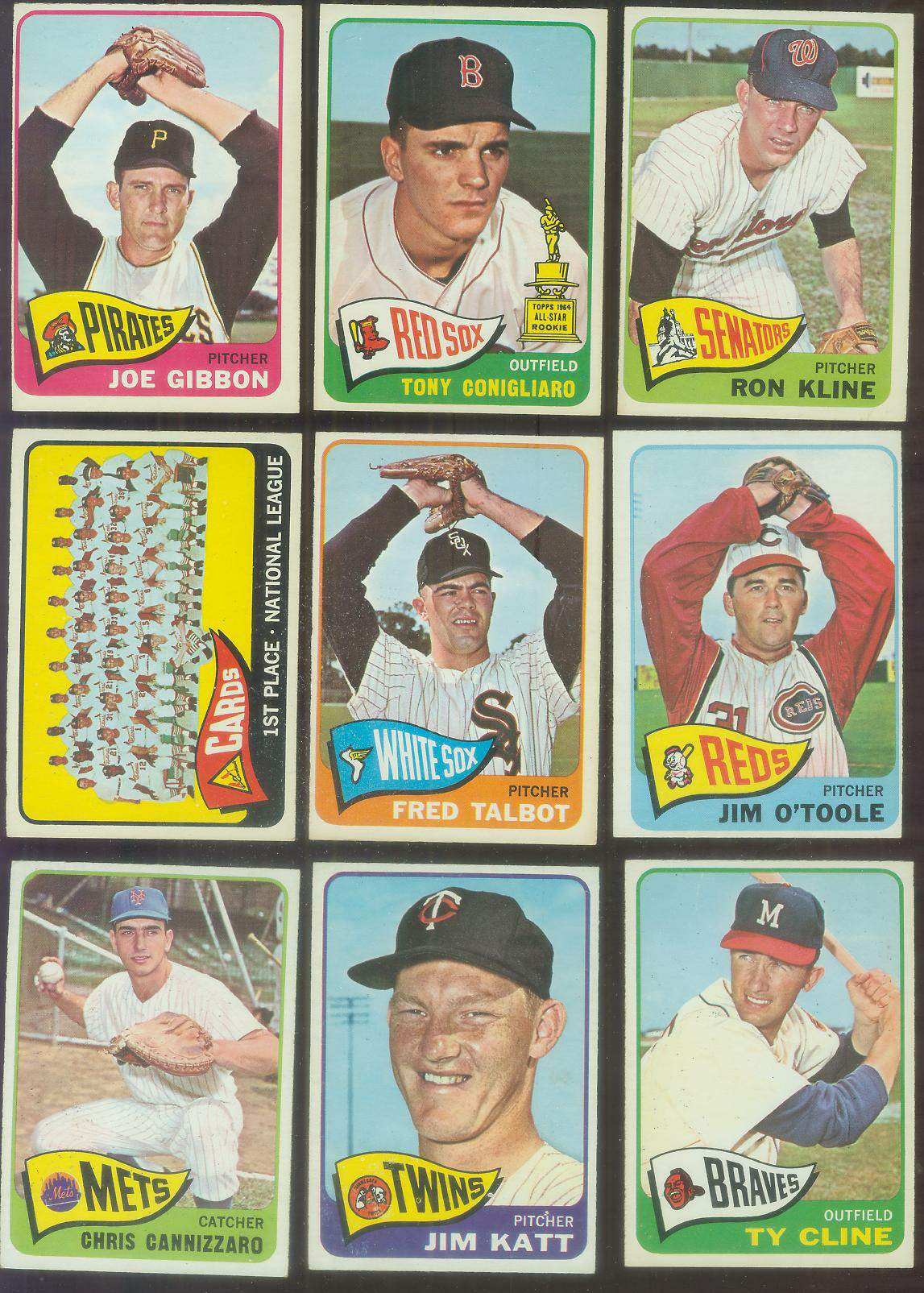 1965 O-Pee-Chee/OPC #.57 Cardinals TEAM card (Cardinals) Baseball cards value