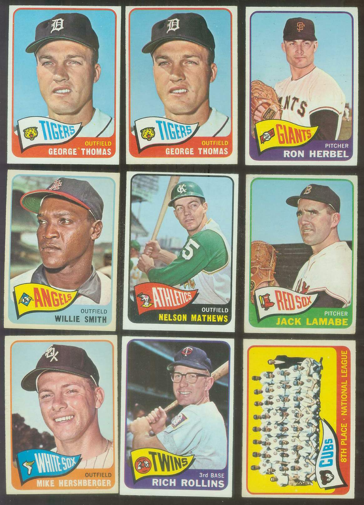 1965 O-Pee-Chee/OPC #.89 Mike Hershberger (White Sox) Baseball cards value